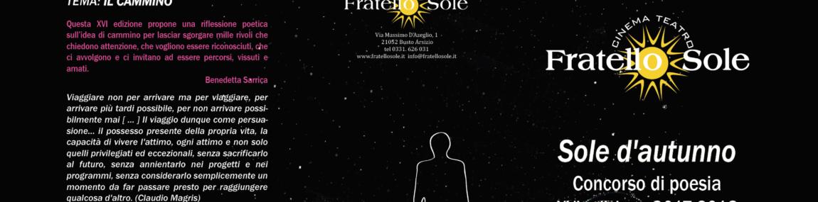 SOLE D'AUTUNNO – Concorso di Poesia XVI ed. 2017-2018